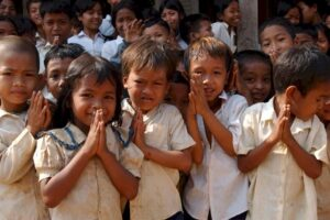 G Adventures Cambodian children