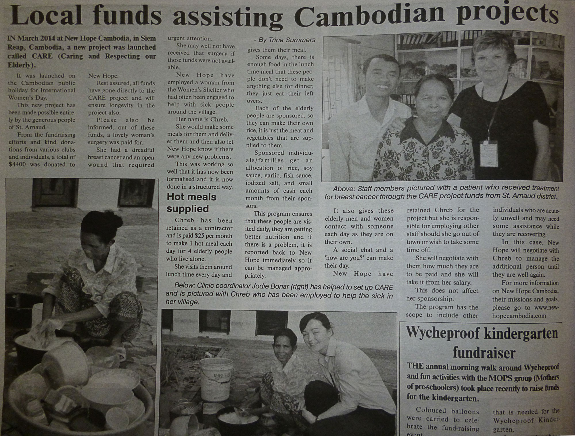 Local funds assisting Cambodian projects